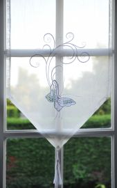 Brise-bise transparent papillon 45x80